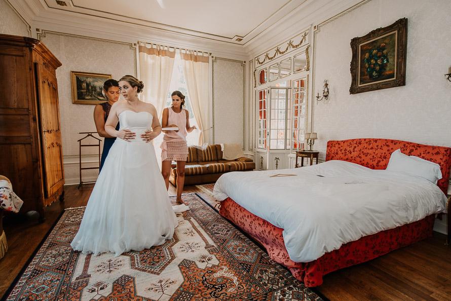 Robe de mariée château de Brézé